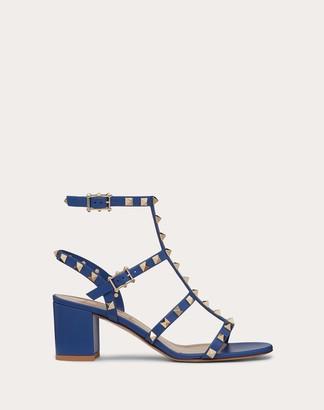 Valentino Rockstud Calfskin Ankle Strap Sandal 60 Mm Women Saddle Brown Calfskin 100% 34