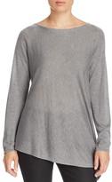 Eileen Fisher Boat Neck Asymmetric Sweater