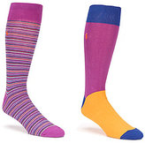 Polo Ralph Lauren Big & Tall Multi-Stripe Crew Dress Socks 2-Pack