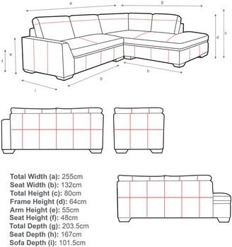 John Lewis & Partners Tortona RHF Chaise End Leather Sofa, Dark Leg