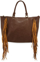 Urban Originals Oasis Fringed Tote Bag, Latte