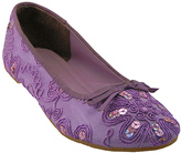 Purple Sequin Embroidered Ballet Flat