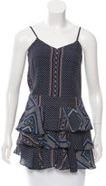Derek Lam 10 Crosby Printed Sleeveless Top