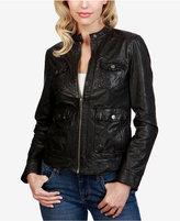 Lucky Brand Leather Biker Jacket