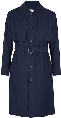 Loewe Navy wool trench coat
