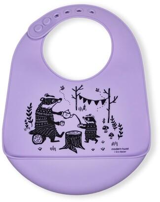 Modern Twist Bucket Bib - Badger Family