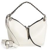 Jimmy Choo Raven Chain Lambskin Leather Shoulder Bag - White