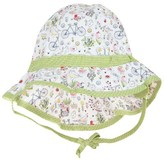 Sterntaler Green and White Floral Sun Hat