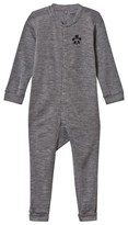 Mini Rodini Panda Wool Onesie Dark Grey Melange