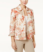 Alfred Dunner Just Peachy Floral-Print Jacket