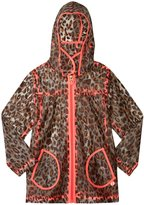 Billieblush Print Rain Jacket (Toddler/Kid) - Clear/Brown/Pink - 6 Years