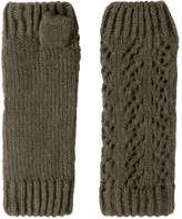Joe Fresh Women's Cable Knit Fingerless Gloves, Burgundy Mix (Size O/S)