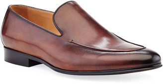 Ike Behar Men's Brett Leather Loafer Dress Shoes