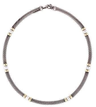 David Yurman Pearl Hampton Cable Necklace
