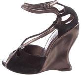 Bottega Veneta Suede Wedge Sandals