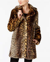 Laundry by Shelli Segal Leopard-Print Faux-Fur Coat