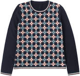 Cath Kidston Little Lucky Notes Clover Jacquard Jumper