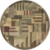 "Nourison ST22 Somerset Round Area Rug, Multicolor, 5' 6"" x 5' 6"""