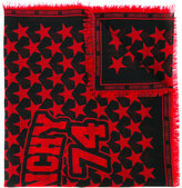 Givenchy star printed scarf - women - Wool - One Size