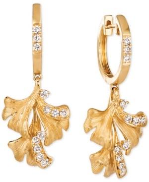 LeVian Le Vian Nude Diamond Flower Drop Earrings (3/8 ct. t.w.) in 14k Gold
