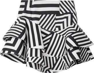 S I O B H A N M O L L O Y Geometric Print Asymmetric Skirt