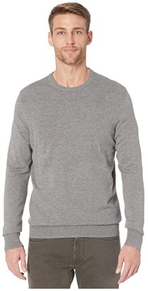 Calvin Klein Long Sleeve Liquid Touch Crew Neck Sweater (Black) Men's Clothing