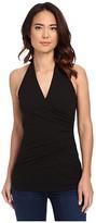 Susana Monaco Wrap Halter Top (Black 1) Women's Sleeveless