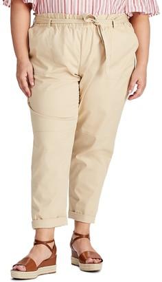 Chaps Plus Size Straight Khaki Pants