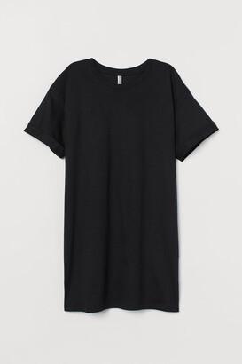 H&M Long T-shirt - Black
