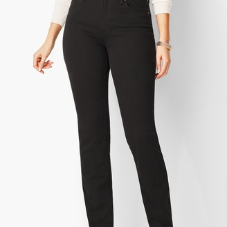 Talbots High-Waist Straight-Leg Jeans - Curvy Fit - Black