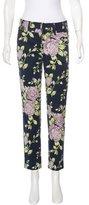 Rag & Bone Floral Print Straight Leg Pants