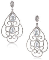 Carolee The Cloisters Clear Crystal Openwork Clip-On Earrings