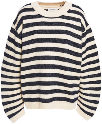 BA&SH Metallic Striped Wool-blend Sweater