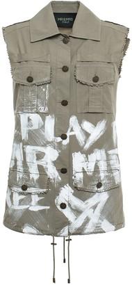 Mr & Mrs Italy Printed Parachute Popeline Waistcoat