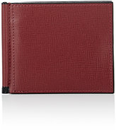 Valextra Men's Leather Wallet-BURGUNDY
