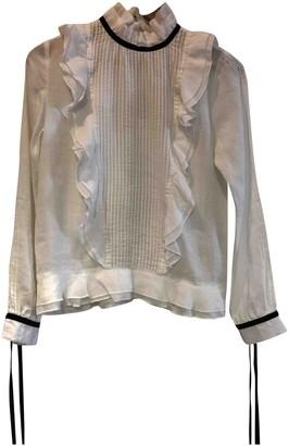 LES COYOTES DE PARIS White Linen Top for Women
