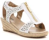 MICHAEL Michael Kors Girls' Cate Lali Espadrille Wedge Sandals