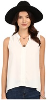 BB Dakota Adamma Crepe de Chine Collared Tank Top
