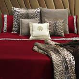 Roberto Cavalli Leopard Border Duvet Set - Super King - Red