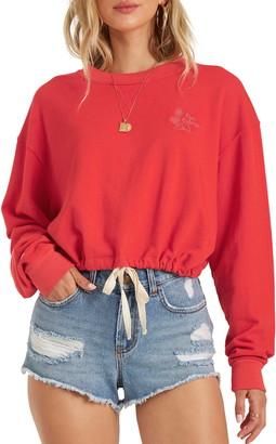 Billabong Faded in the Sun Crop Crewneck Sweatshirt