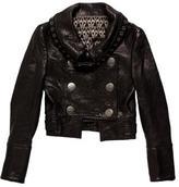 Thomas Wylde Double-Breasted Leather Jacket
