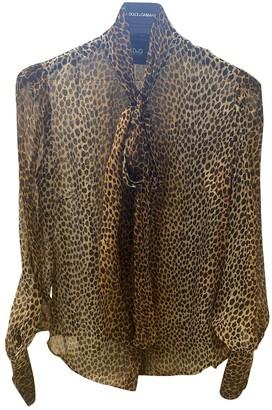 Dolce & Gabbana Gold Silk Knitwear for Women