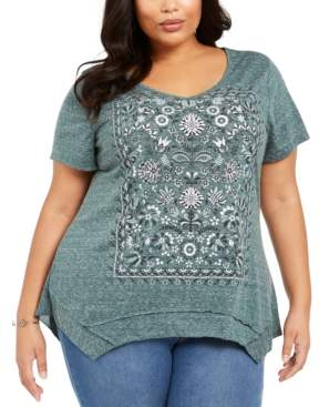 Style&Co. Style & Co Plus Size Graphic T-Shirt, Created for Macy's