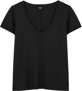 Paige Zaya Black Cotton-blend T-shirt