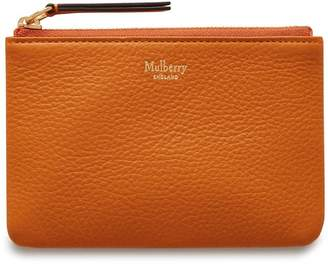 Mulberry Zip Coin Pouch Autumn Gold Small Classic Grain