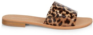 Saks Fifth Avenue Caleigh Leopard Slide Sandals