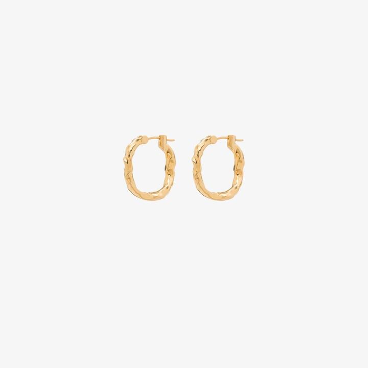 Joanna Laura Constantine gold-plated Waves hoop earrings