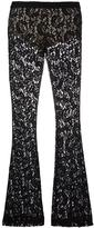 Moschino lace flared trousers - women - Polyamide/Polyester/Rayon - 38