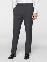 Calvin Klein Body Slim Fit Grey Chambray Suit Pants