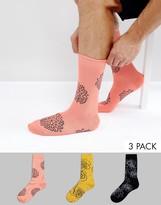 Asos Smart Socks In Floral Design 3 Pack